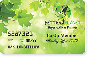 Better Planet Paper Co-op Membership Card