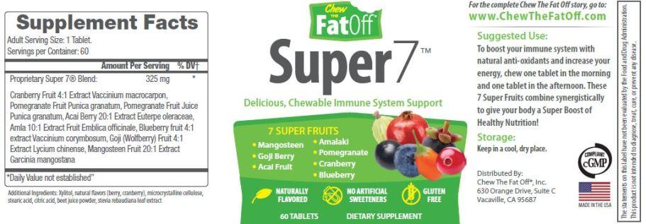 CTFO Super7 Antioxidant Chew